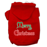 Mirage - Merry Christmas Dog Hoodie - Red