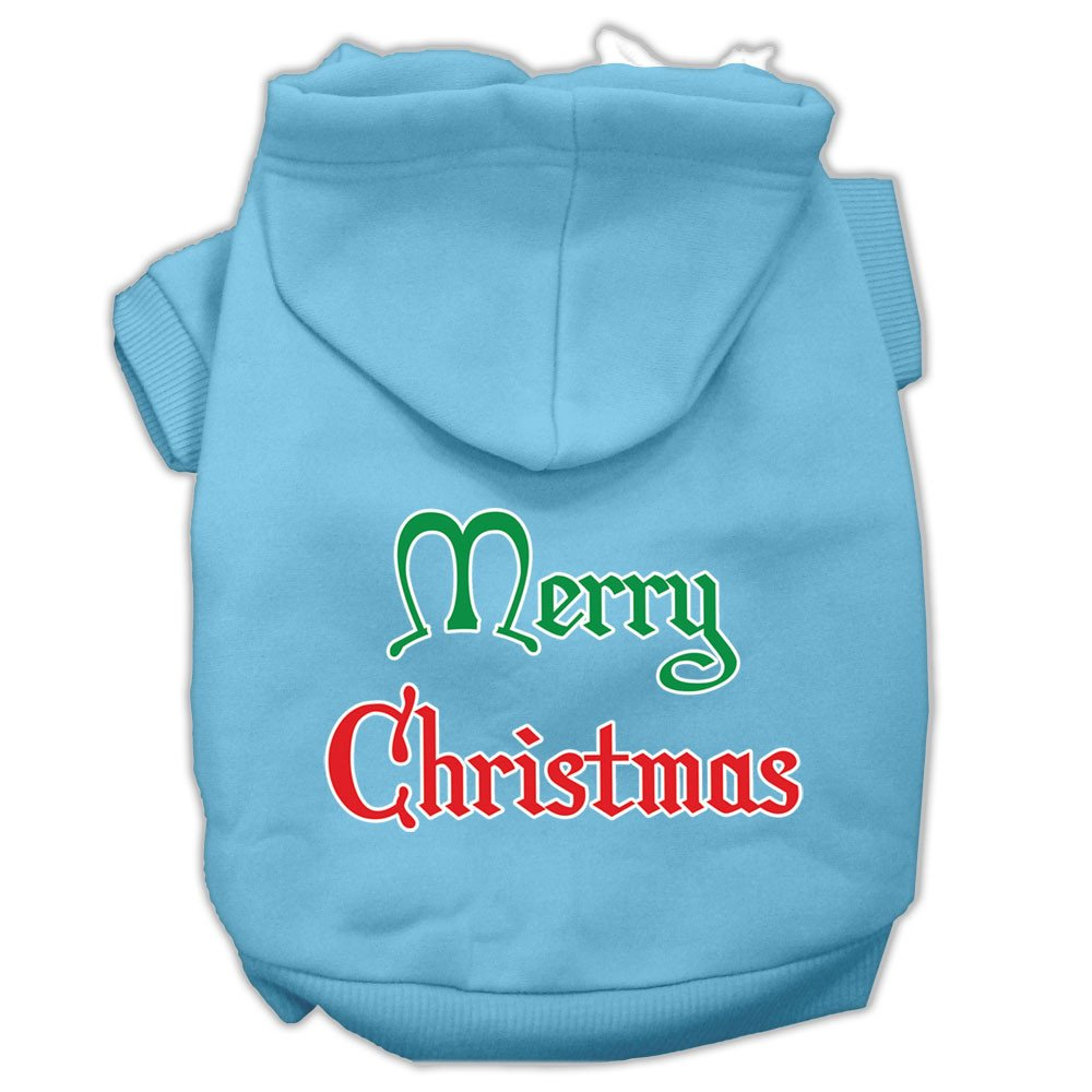 Mirage - Merry Christmas Dog Hoodie - Baby Blue