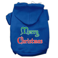 Mirage - Merry Christmas Dog Hoodie - Blue