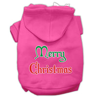 Mirage - Merry Christmas Dog Hoodie - Bright Pink