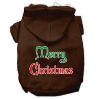 Mirage - Merry Christmas Dog Hoodie - Brown
