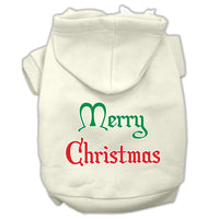 Mirage - Merry Christmas Dog Hoodie - Cream