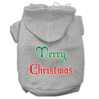 Mirage - Merry Christmas Dog Hoodie - Grey