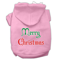 Mirage - Merry Christmas Dog Hoodie - Pink