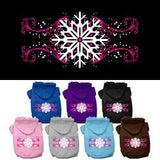 Mirage - Pink Snowflake Swirls Dog Hoodies