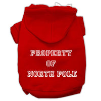 Mirage - Property Of North Pole Dog Hoodie - Red