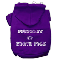 Mirage - Property Of North Pole Dog Hoodie - Purple