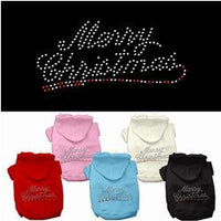 Mirage - Rhinestone Merry Christmas Dog Hoodie