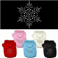 Mirage - Rinestone Snowflake Christmas Dog Hoodies