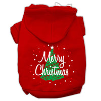 Mirage - Scribbled Merry Christmas Dog Hoodie - Red