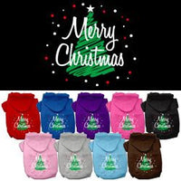 Mirage - Scribbled Merry Christmas Dog Hoodies