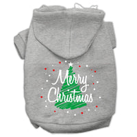Mirage - Scribbled Merry Christmas Dog Hoodie - Grey