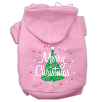 Mirage - Scribbled Merry Christmas Dog Hoodie - Pink
