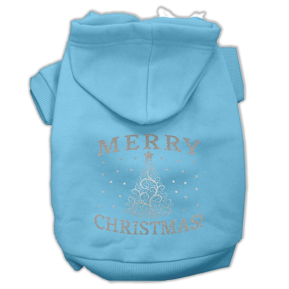 Mirage - Shimmer Christmas Tree Dog Hoodie - Baby Blue