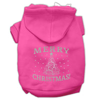 Mirage - Shimmer Christmas Tree Dog Hoodie - Bright Pink
