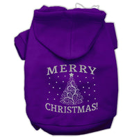Mirage - Shimmer Christmas Tree Dog Hoodie - Purple