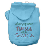 Mirage - Tinsel Tangle Christmas Dog Hoodie - Baby Blue