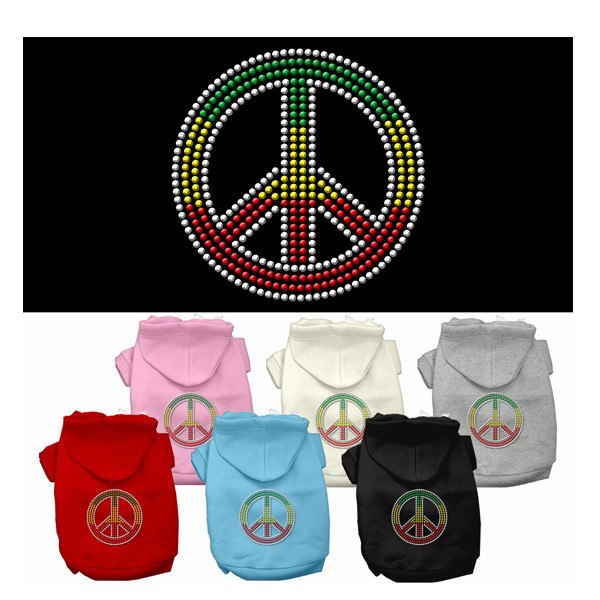 Rasta Peace Sign Dog Hoodies