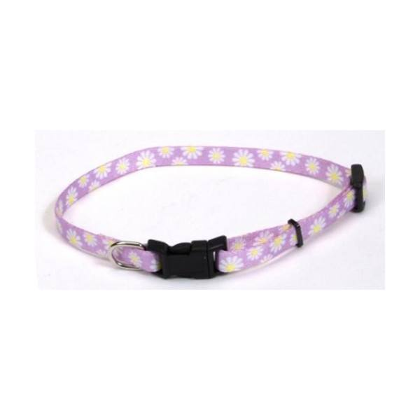 Li'l Pals Printed Pattern Adjustable Nylon Collar - Daisies