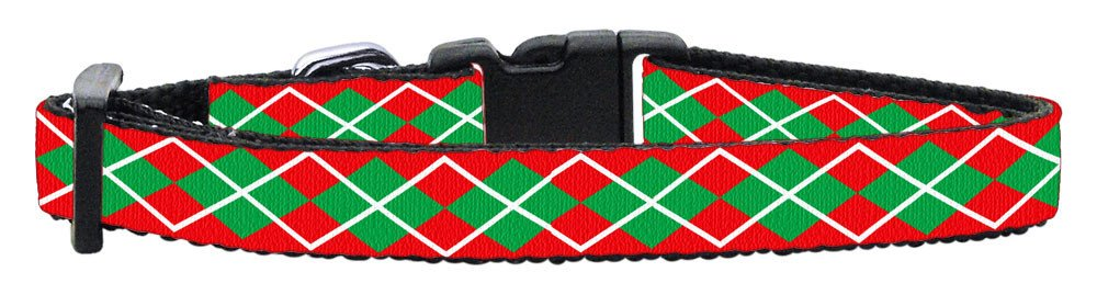 Mirage - Small Dog Argyle Christmas Dog Collar