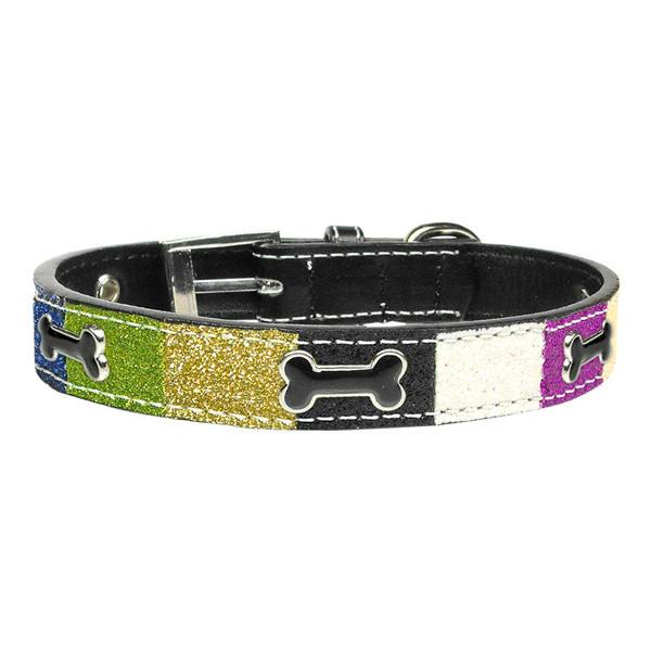Mirage - Blue Neapolitan Ice Cream Dog Collar - Bones