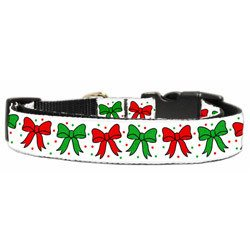 Mirage - Christmas Bows Dog Collars