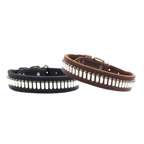 Mirage - Comet Studded Leather Dog Collars