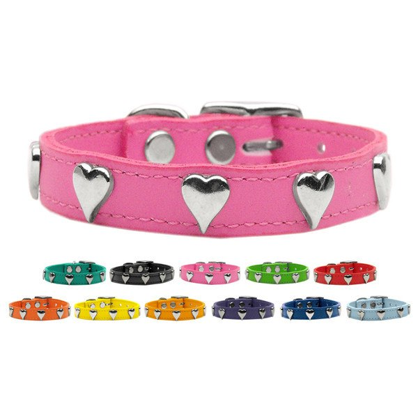 Mirage - Fashion Leather Heart Dog Collar