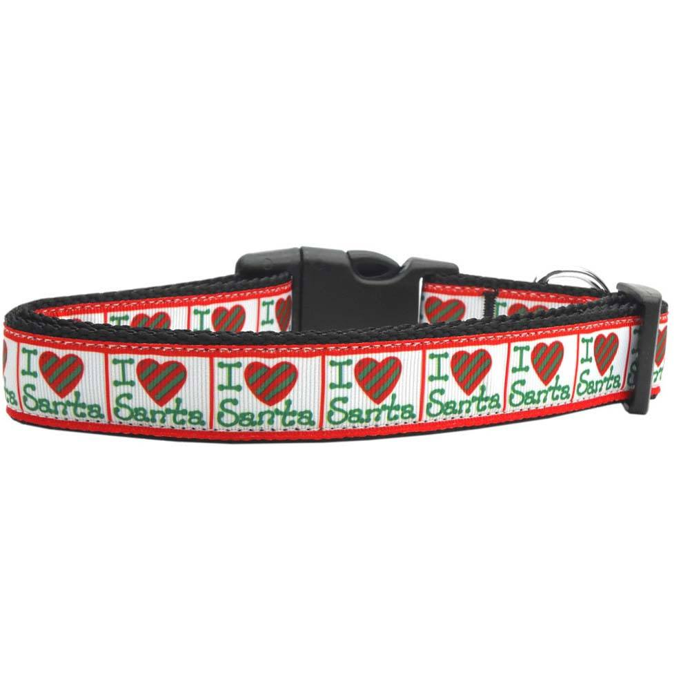 Mirage - I Heart Santa Dog Collars