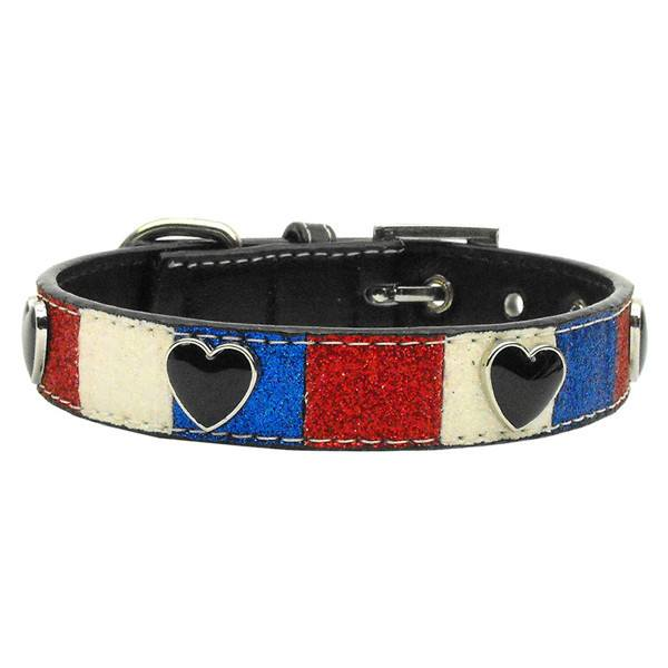 Mirage - Patriotic Ice Cream Dog Collar - Hearts