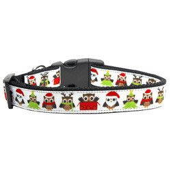 Mirage - Santa Owls Christmas Dog Collar