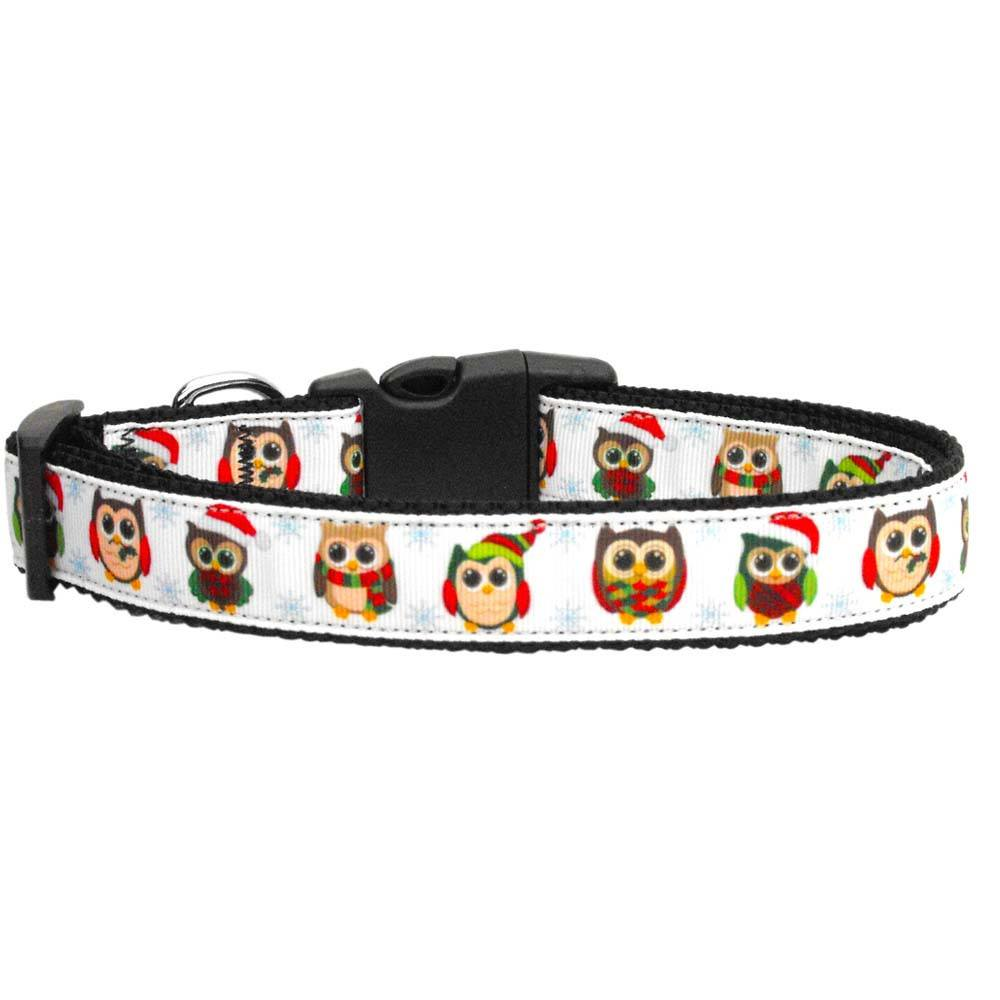Mirage - Snowy Owls Dog Collar