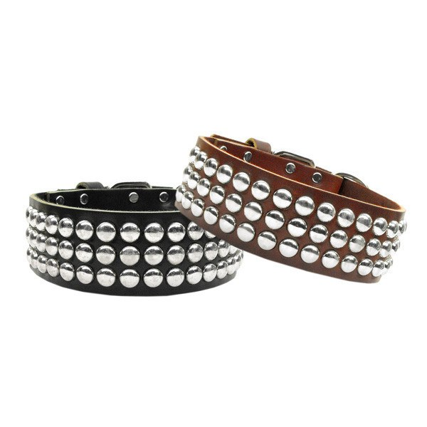 Mirage - Tokyo Studded Leather Dog Collars