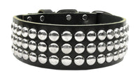 Four Paws Pet Stuff | Black Tokyo Studded Leather Dog Collars