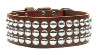 Four Paws Pet Stuff | Burgundy Tokyo Studded Leather Dog Collars