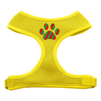 Christmas Paw Soft Mesh Harness - Yellow