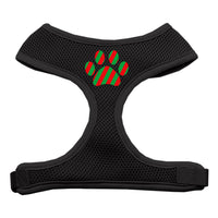 Christmas Paw Soft Mesh Harness - Black