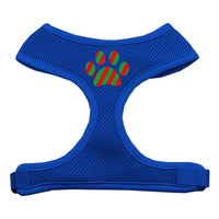 Christmas Paw Soft Mesh Harness - Blue