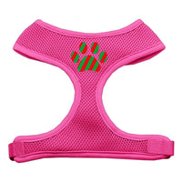 Christmas Paw Soft Mesh Harness - Pink