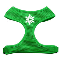 Mirage - Snowflake Dog Harness - Emerald Green