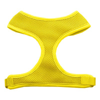 Yellow Soft Mesh Dog Harness