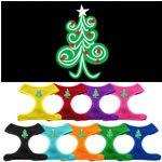 Mirage - Swirly Christmas Tree Soft Mesh Dog Harness