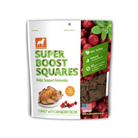 Dogswell - Super Boost Squares Dog Treats - Turkey With Cranberry