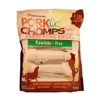 "Pork Chomps Premium 11"" Baked Pork Knots"