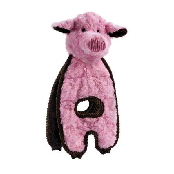 Cuddle Tugs Peachy Pig Dog Toy