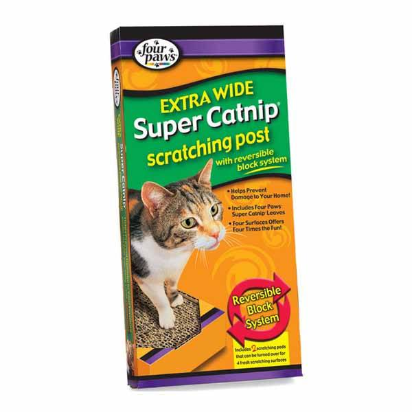 Four Paws - Extra Wide Super Catnip Scratching Post