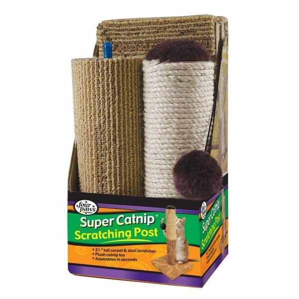 Four Paws - Super Catnip Scratching Post 3 Piece