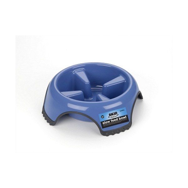 JW Pet - Skid Stop Slow Feed Dog Bowls