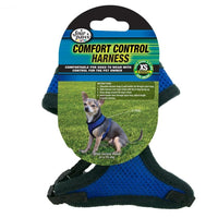 Four Paws Comfort Control Harness Extra Small Blue