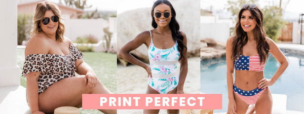 printed swimsuits